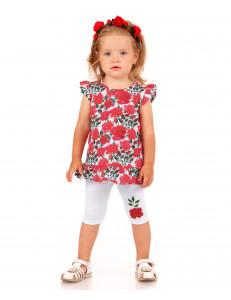 """Комплект для малышей (бриджи и блуза) """"Розочки"""""""