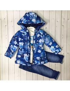 Комплект для девочек с синей курткой bebus из 3-х предметов