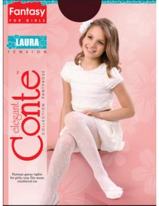 Колготки нарядные белые на девочку Laura